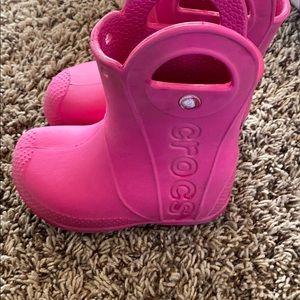 Crocs handle it rain boots size 8